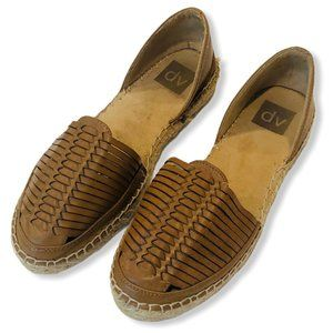 Dolce Vita Leather Woven Espadrille Flats